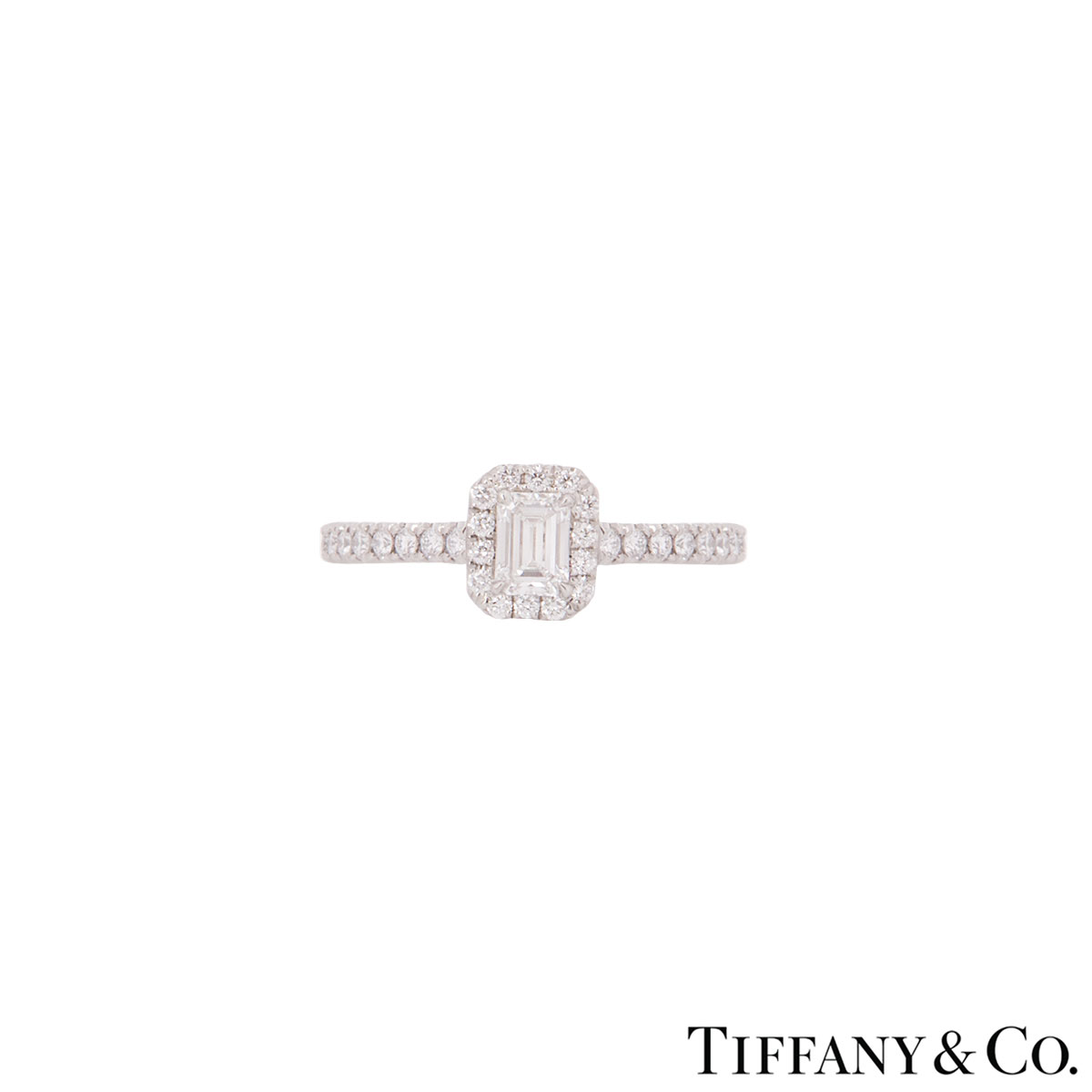 Tiffany & Co. Platinum Diamond Soleste Ring